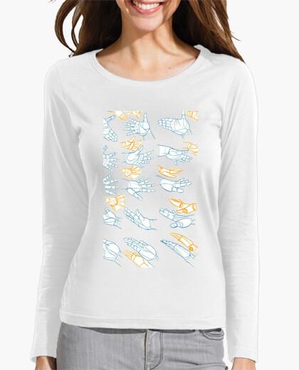 Camiseta Mujer manos