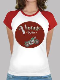 mujer motos de época