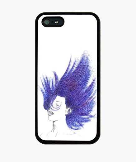 Funda iPhone Mujer pelo azul