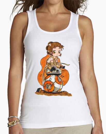 Camiseta Mujer, sin mangas, blanca