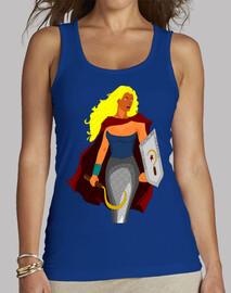 Mujer, sin mangas, roja
