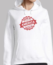 Mujer, Sudadera Made in america