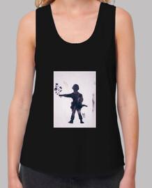 Mujer, tirantes anchos & Loose Fit, negra