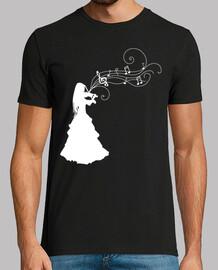 Mujer Violinista Blanco