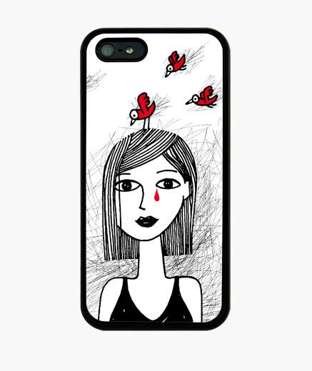 Funda iPhone Mujer y los pájaros, Cadafalch