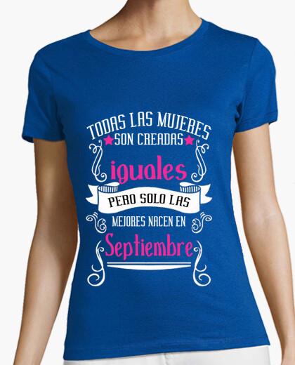 Camiseta Mujeres mejores nacen Septiembre manga