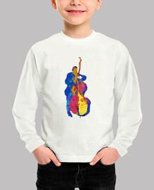 Multicolor Modern Jazz Bassist