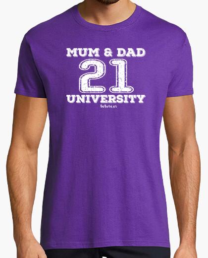 Mum & dad 21 university t-shirt