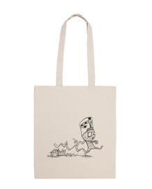 mummy with cat - big bag