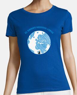 Mundo necesita lobos, camiseta mujer.