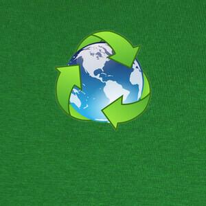 Mundo reciclaje T-shirts
