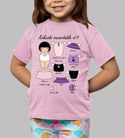 Muñeca kokeshi recortable 1