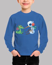 muñeco de nieve y dragón