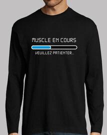 muscle en cours blanc bleu noir
