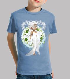 Muse romance sur Tee shirt enfant, manche courte, céleste