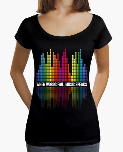 Music - equalizing bars - music speaks (white) t-shirt