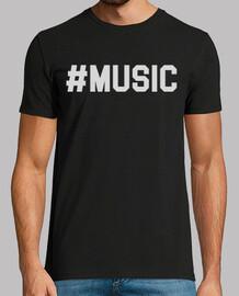MUSIC HASHTAG white