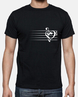 Music Heart - Man T-Shirt
