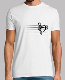 Music Heart - Man T-Shirt
