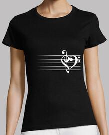 music heart - woman t-shirt