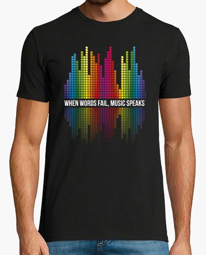 Camiseta Música - Barras ecualizadoras - MUSIC SPEAKS (blanco)
