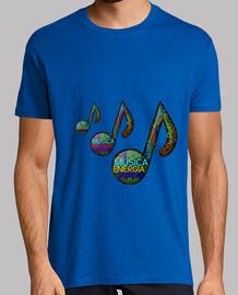 musica  Hombre, manga corta, rosa, calidad extra