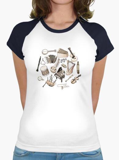 Camiseta música! béisbol equipada