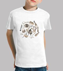música! camiseta para niños