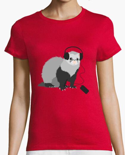 Música divertida hurón amorosa camiseta