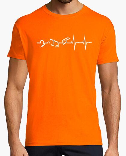 Camiseta Música en las venas - white