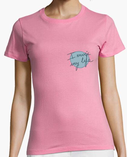 T-shirt musica la mia vita, manica corta stretta