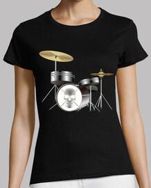 musical drummer skull drumsticks