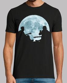 musicians under a full moon