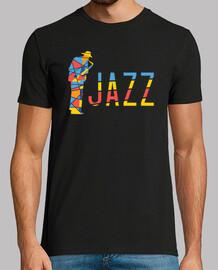 musicien de jazz coloré