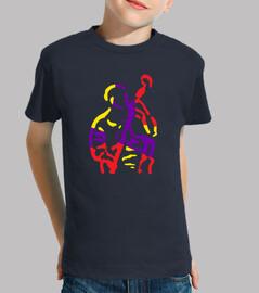 músico bajo abstracto colorido
