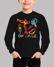 músico de jazz colorido