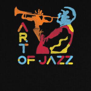 T-shirt músico de jazz colorido