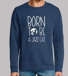 músico de saxofón de jazz divertido