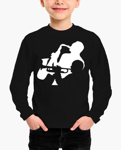 Ropa infantil músicos de trompeta y saxofón de jazz