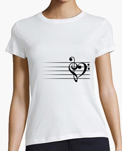 T-Shirt musikherz - frauent-shirt
