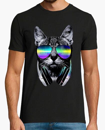 T-Shirt musikliebhaber katze