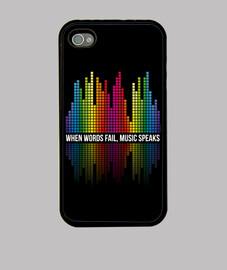 musique - égalisation des bars - musique parle (blanc)