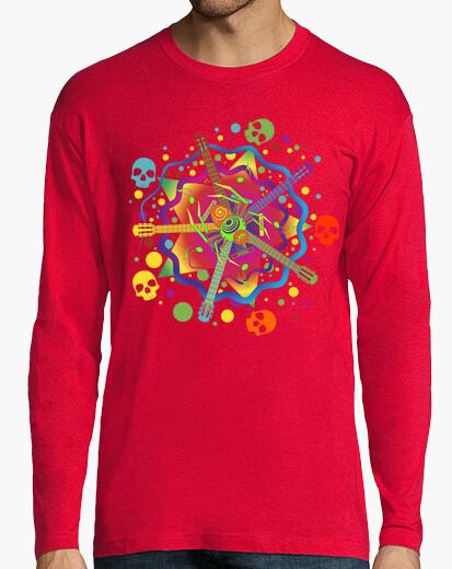 Tee-shirt musique psychédélique araignée et crâne