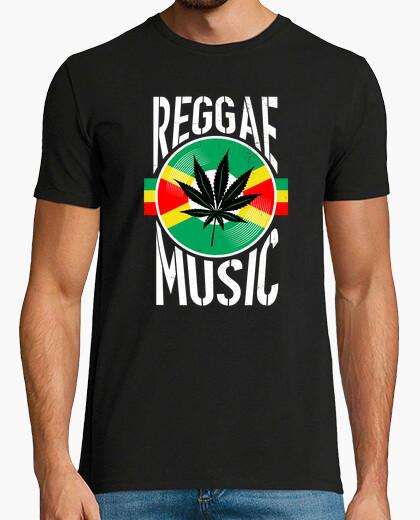 Tee-shirt musique reggae canabbis vinyle