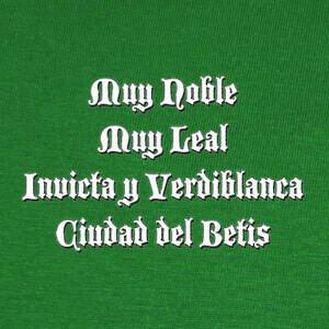 Tee-shirts Muy noble Ciudad del Betis