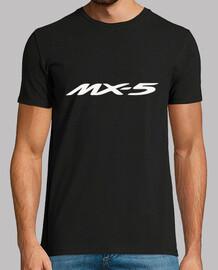 MX5 logo + 4 dibujos espalda (blanco)