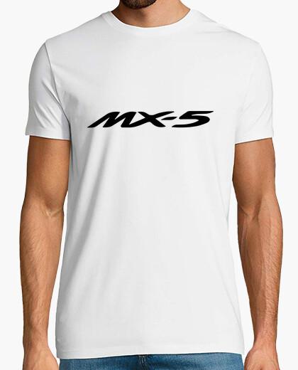 Camiseta MX5 logo + 4 dibujos espalda (negro)