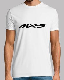 MX5 logo + 4 dibujos espalda (negro)