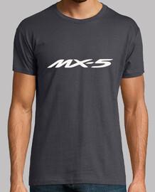 MX5 Logo + 5 dibujos espalda (blanco)