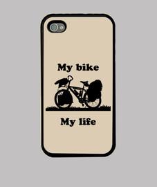 My Bike My Life Funda iPhone 4, negra